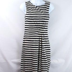 🏵️☀️ LOFT Petites Striped Dress w/Ruching